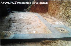 Az-2012-022 Foundation for a kitchen