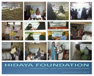 Hidaya Foundation Ramadhan Dry Ration Distribution 2013