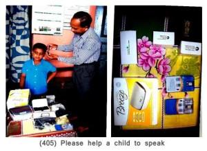 (405) Please help a child to speak