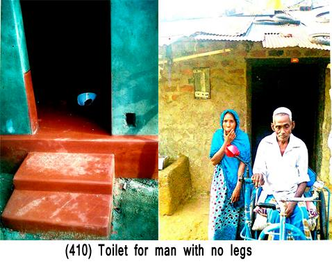 (410) Toilet for man with no legs