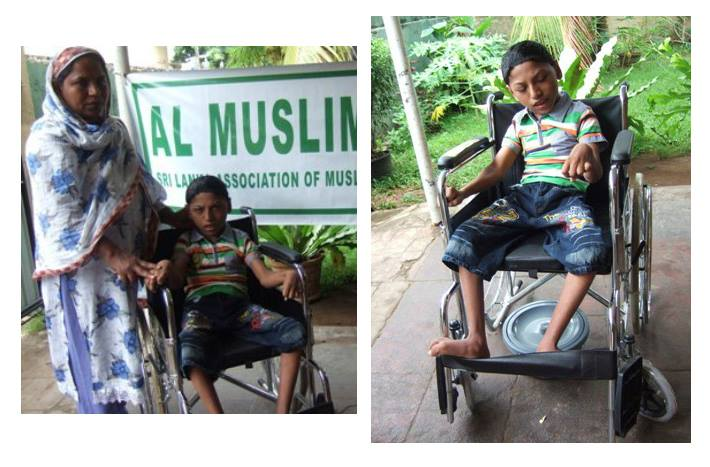 Donation of a wheel chair